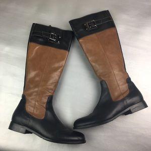 Aquatalia Drew Riding boots brown/ black